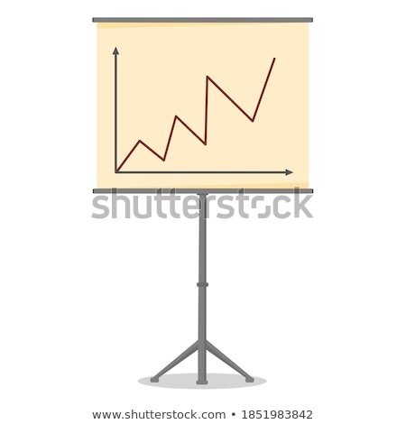 Stock market billboard with analysis curves Stock photo © bbbar