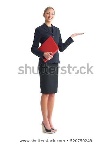 Piros könyv siker kéz izolált fehér Stock fotó © pinkblue
