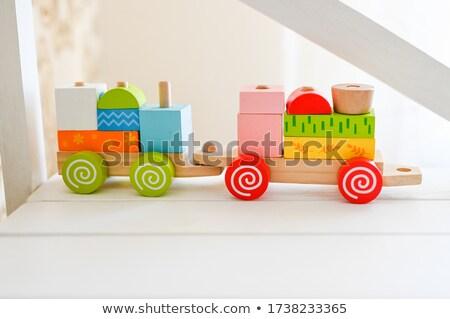 speelgoed · stoom · motor · oude · Rood - stockfoto © pzaxe