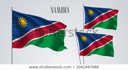 Siyasi bayrak Namibya dünya ülke Stok fotoğraf © perysty