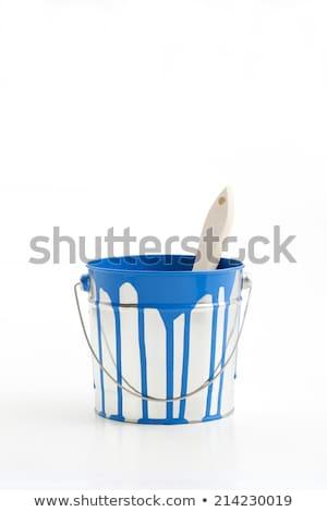 Malarz wiadro szczotki pracy hat osoby Zdjęcia stock © photography33