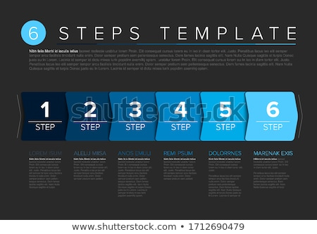 one two three four   vector paper steps stock photo © orson