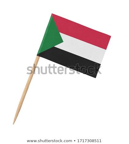 Miniatűr zászló Szudán izolált vágási körvonal megbeszélés Stock fotó © bosphorus