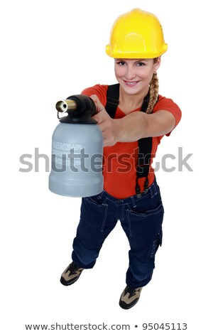Women carelessly playing with blow torch Stock photo © photography33