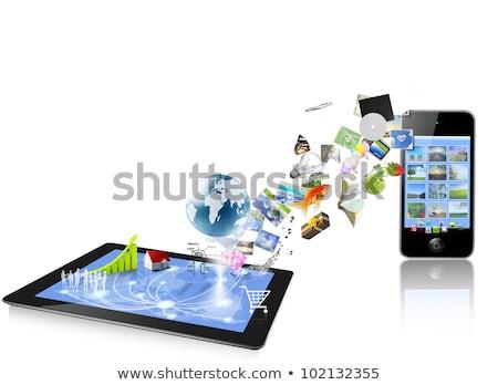 Yalıtılmış teknoloji netbook'lar görüntü yeni küçük Stok fotoğraf © Studiotrebuchet