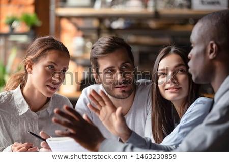 Sorridere business internazionale persone studiare documento riunione Foto d'archivio © wavebreak_media