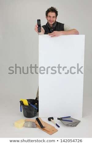 Tiler promoting his services Stock photo © photography33