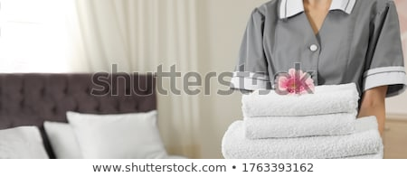 fresco · toalhas · banho · isolado · branco - foto stock © kitch
