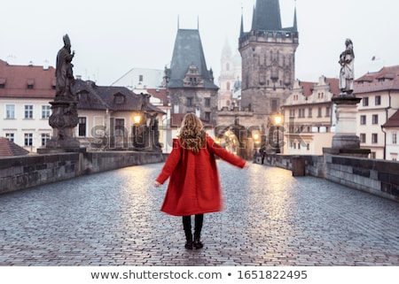 charles bridge in prague czech republic early in the morning stock photo © andreykr