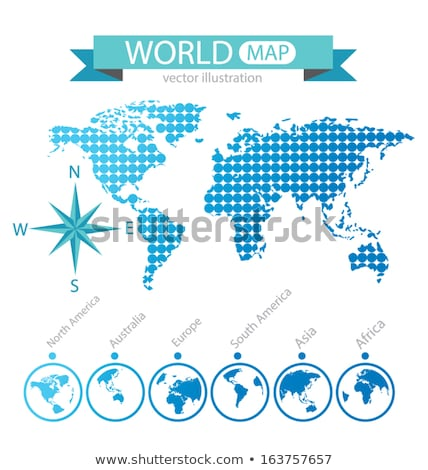 North, South America, Europe, Africa Global Communication Planet Stock photo © fenton