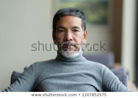 魅力的な ヒスパニック シニア ビジネスマン 肖像 黒服 ストックフォト © pablocalvog