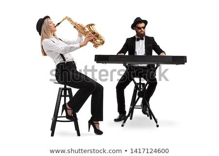 Szaxofon izolált fehér zene fény háttér Stock fotó © arcoss