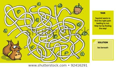 Animal track puzzle vector background Stock photo © krabata