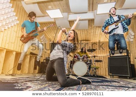 Musical girls band Stock photo © Aikon