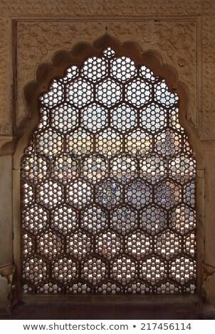 ornament lattice window in india Stock photo © Mikko