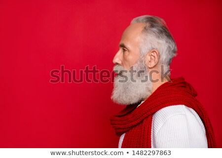 Profil Ansicht Rentner Urlaub Wand Sonne Stock foto © photography33
