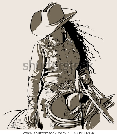 attractive cowgirl stock photo © vwalakte