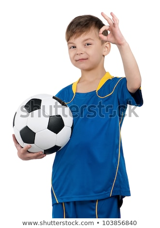 Boy shows ok sign when playing  stock photo © get4net