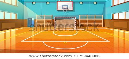 здании · баскетбол · мяча · Легкая · атлетика - Сток-фото © zzve