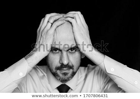 Spaans stijl knappe man gezichtshaar knap vent Stockfoto © konradbak