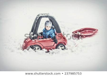Child towing car toy Stock photo © ia_64