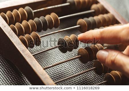 ábaco cérebro ícone clip-art matemática Foto stock © zzve