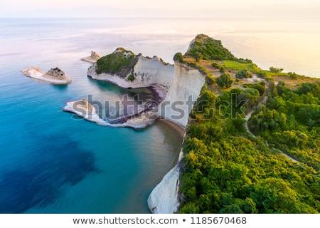 Coastline of Paleokastritsa on Corfu island, Greece Stock photo © haraldmuc