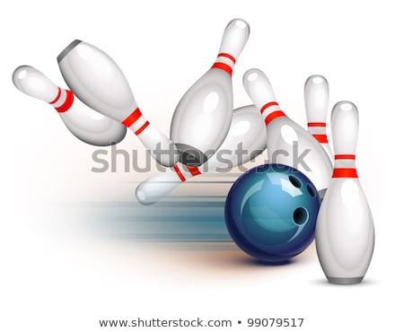 Rood sport leuk snelheid pin Stockfoto © tilo