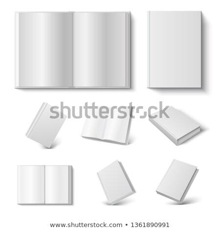 オープン 図書 背景 レトロな 白 アンティーク ストックフォト © aetb