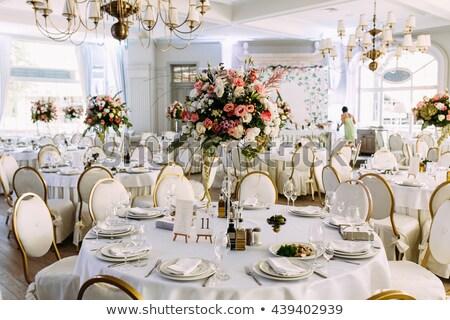 Ricevimento di nozze sala magnifico fiore decorato fiori Foto d'archivio © avdveen