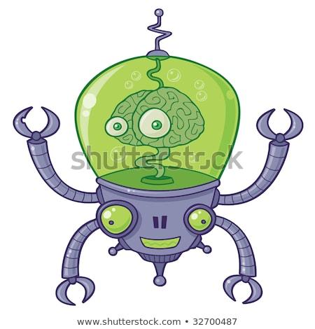 Robô cérebro vetor desenho animado ilustração grande Foto stock © fizzgig
