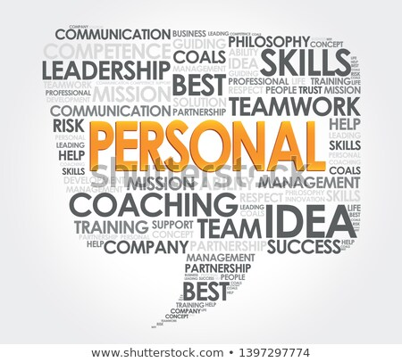 personal development word cloud speech bubble stock photo © kbuntu