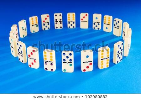 domino · spel · business · metafoor · kiezen - stockfoto © lunamarina