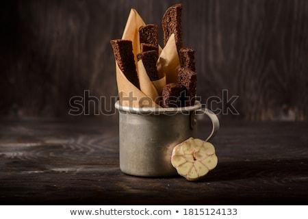чеснока вкусный все зерна хлеб специи Сток-фото © zhekos