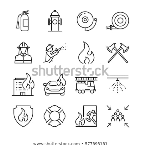 Vector icon fire truck Stock photo © zzve