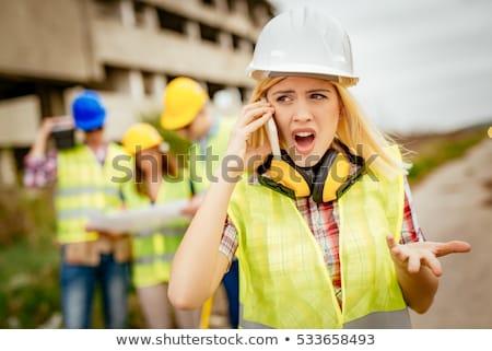 архитектора · инструкции · бизнеса · улыбка · бизнесмен - Сток-фото © photography33