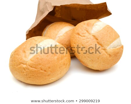 Three bagels in a brown paper bag Stock photo © Elmiko