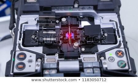 оптический · волокно · кабелей · белый · 3d · иллюстрации · интернет - Сток-фото © artush