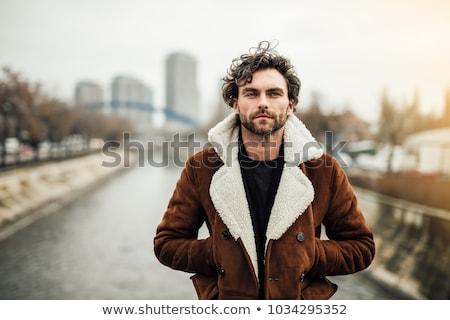 портрет · жестокий · Sexy · человека · улице · зима - Сток-фото © curaphotography