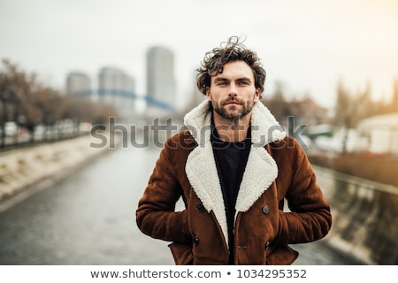 Tél férfi divat portré férfi modell visel Stock fotó © curaphotography