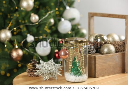 Natale decorazione perline colorato abstract luce Foto d'archivio © illustrart