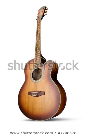 Acoustic Guitar Isolated Over White Background Stock fotó © italianestro