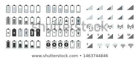 バッテリー レベル インジケータ セット 実例 ベクトル ストックフォト © burakowski