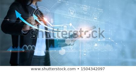 Global Business Technologie Fortschritte Pfeile Vektor Welt Stock foto © burakowski