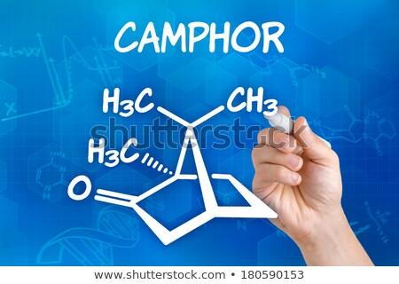 手 ペン 図面 化学 式 技術 ストックフォト © Zerbor