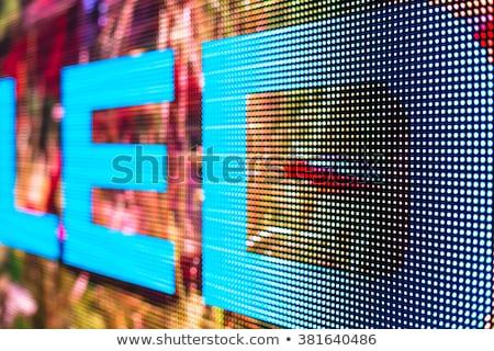 отображения экране часы спорт знак дискотеку Сток-фото © myfh88