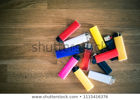 Plástico descartável vermelho amarelo dois Foto stock © juniart