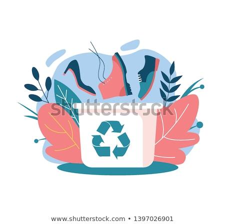 recycler · ressource · conservation · mot · vintage · bois - photo stock © shawlinmohd