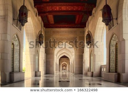 Interior Grand Sultan Qaboos Mosque Stock photo © w20er