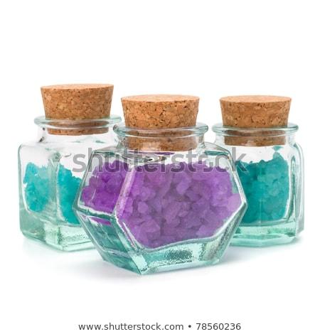 Aromatischen natürlichen Mineral Salz isoliert weiß Stock foto © natika